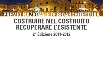 Premio Internazionale di Bioarchitettura 2011