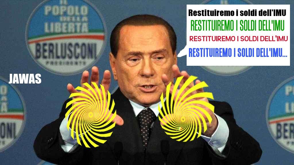 Berlusconi: restituiremo l'Imu